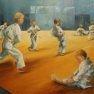 La classe de judo [Huile sur toile - 73 x 54]