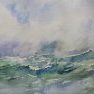 Mer agitée [Aquarelle - 30 x 40]