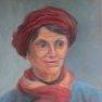Sourire au chapeau rouge [55 x 46]