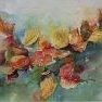 Feuilles d'automne [Aquarelle - 30 x 40]