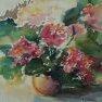 Carré fleuri [Aquarelle - 30 x 30]