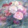 Flou de roses [Acrylique - 46 x 55]
