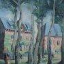 En traversant la place A.Thome [Huile -65 x 50]