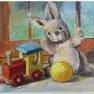 Petite étude de jouets [Acrylique - 30 x 40]
