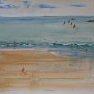 Sur la plage [Croquis - 20 x 30]