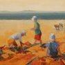 Châteaux de sable [Huile sur toile - 40 x 80]