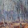 Bouleaux en hiver [Acrylique - 55 x 38]