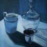 Porcelaine, verre et argent [Acrylique]
