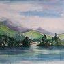 Lac de Champex [Aquarelle - 30 x 40]