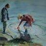 Au bord de l'étang [Aquarelle - 40 x 50]