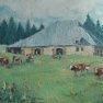 « La Grange Nourrie » - Jura [Huile - 33 x 55]